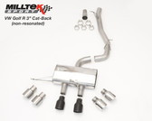 "Milltek Sport VW Golf R 3"" Non-Resonated Cat-Back, Titanium Tips"