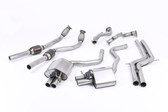 "Milltek Sport Audi RS7  Non-Resonated Turbo-Back Exhaust with 2.75"" Downpipes (not legal for road use)"