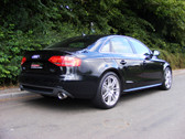 Milltek Sport Audi B8 A4 2.0T Cat-back Exhaust - Non-Resonated, Dual Outlet Polished Tips.  For Automatic Transmission