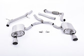 Milltek Sport Audi B9 A4 2.0T Non-Resonated Cat-Back with Dual GT-100 Titanium Tips