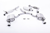 Milltek Sport Audi B9 A4 2.0T Resonated Cat-Back with Dual GT-100 Polished Tips