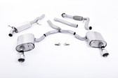 Milltek Sport Audi B9 A4 2.0T Road + Partial Resonated Cat-Back with Dual GT-100 Polished Tips