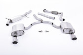 Milltek Sport Audi B9 A4 2.0T Road + Partial Resonated Cat-Back with Dual GT-100 Titanium Tips