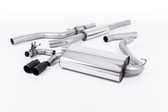 """Milltek Sport 428i """"OE Style"""" Resonated Single Outlet Exhaust, Cerakote Black Tips, for Automatic Transmission"""
