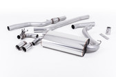 "Milltek Sport 428i ""OE Style"" Non-Resonated Single Outlet Exhaust, Polished Tips, for Manual Transmission"