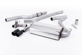 "Milltek Sport 428i ""OE Style"" Non-Resonated Single Outlet Exhaust, Cerakote Black Tips, for Manual Transmission"