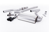 "Milltek Sport 428i ""OE Style"" Non-Resonated Single Outlet Exhaust, Cerakote Black Tips, for Manual Transmission"