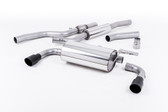 Milltek Sport 428i Dual Outlet Resonated Exhaust, Cerakote Black Tips, for Manual Transmission