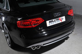 Milltek Sport Audi B8 A4 2.0T Cat-Back Exhaust - Non-Resonated, Quad Outlet.  For 6-Speed Manual Transmission