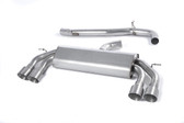 Milltek Sport VW MK7 Golf R Non-Valved, Non-Resonated, Titanium Round Tip Cat-Back Exhaust