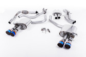 Milltek Sport Audi B9 S4 Turbo V6 Cat-Back Resonated Quad GT-100 Burnt Titanium Tips