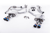 Milltek Sport Audi B9 S4 Turbo V6 Cat-Back Resonated Quad GT-90 Burnt Titanium Tips