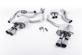 Milltek Sport Audi B9 S4 Turbo V6 Cat-Back Resonated Quad GT-90 Titanium Tips