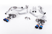 Milltek Sport Audi B9 S4 Turbo V6 Cat-Back Non-Resonated Quad GT-90 Burnt Titanium Tips