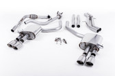 Milltek Sport Audi B9 S4 Turbo V6 Cat-Back Non-Resonated Quad Polished Oval Tips (Sport Diff Only)