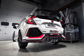 Milltek Sport Honda Civic Cat-Back Exhaust, Non-Resonated Race, Burnt Titanium Tips
