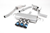 Milltek Sport Honda Civic Cat-Back Exhaust, Part-Resonated Road+, Burnt Titanium Tips