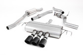 Milltek Sport Honda Civic Cat-Back Exhaust, Part-Resonated Road+, Carbon Jet 100 Tips
