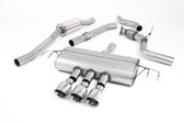 Milltek Sport Honda Civic Cat-Back Exhaust, Part-Resonated Road+, Polished Tips