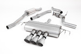 Milltek Sport Honda Civic Cat-Back Exhaust, Part-Resonated Road+, Titanium Tips