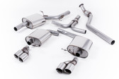 Milltek Sport Audi B8 A5 Coupe/Cabriolet 2.0T (2WD & Quattro) Cat-back-Quad-Outlet exhaust.  Requires S5 3.0T Lower Valance