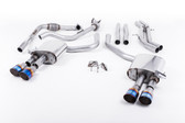 Milltek Sport Audi B9 S5 Coupe 3.0T Cat-Back Non-Resonated Quad GT-100 Burnt Titanium Tips