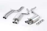 Milltek Sport Audi B8 S5 4.2 Cat-back - Non-Resonated (louder) exhaust.  Jet Tips