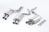 Milltek Sport Audi B8 S5 4.2 Cat-back - Resonated (quieter) exhaust - GT80 Tips