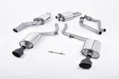 Milltek Sport Audi B8 S4 3.0T Resonated, Cerakote Black Oval Tip Catback