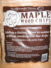 Hard Maple wood chips are Mild and Smokey. Appeals to many peoples tastes. Not over powering.