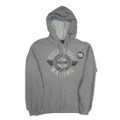 Roush Fenway Mens Gray Full Zip Hoodie (2246)