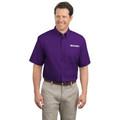 Roush Mens Bright Purple Short Sleeve Dress Shirt (2447)