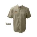 Roush Mens P-51 Tan Short Sleeve Dress Shirt (2676)