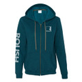 Roush Ladies Square R Teal Vintage Full Zip Sweatshirt (2687)