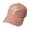 Ladies Pink Mustang Hat (2875)