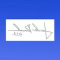 Jack Roush Etched Glass Signature Decal - Reversed (2919)