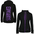 Carl Edwards Black/Purple Full Zip Hoodie (2966)