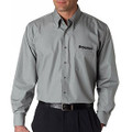 Roush Mens Slate Gray Long Sleeve Dress Shirt (2944)