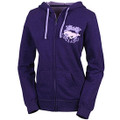 Ford Mustang Ladies Purple Full Zip Hoodie (2975)