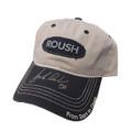 Roush Signed Frayed Gray Hat (2973)