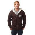 Roush Racing Mens Brown Sherpa Full Zip Hoodie (3009)
