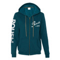 Roush Ladies Teal Full Zip Hoodie (3172)