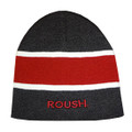 Roush Charcoal/Dark Red Stripe Knit Hat (3225)