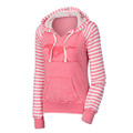 Ford Mustang Coral Ladies Striped Hoodie (3361)