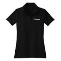 Roush Ladies Square R Black Breathable Polo (3405)