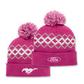 Ford/Mustang Ladies Pom Pom Knit Hat (3460)