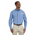 Roush Mens Blue Poplin Long Sleeve Dress Shirt (3472)