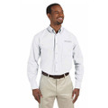 Roush Mens White Poplin Long Sleeve Dress Shirt (3473)