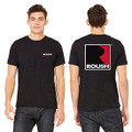 Roush Unisex Dark Heather Gray Square R T-Shirt (3474)