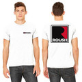 Roush Unisex White Square R T-Shirt (3477)